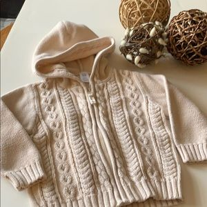 Baby Gap hooded cotton sweater